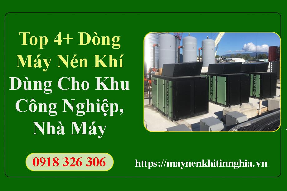 máy nén khí dùng cho khu công nghiệp nhà máy
