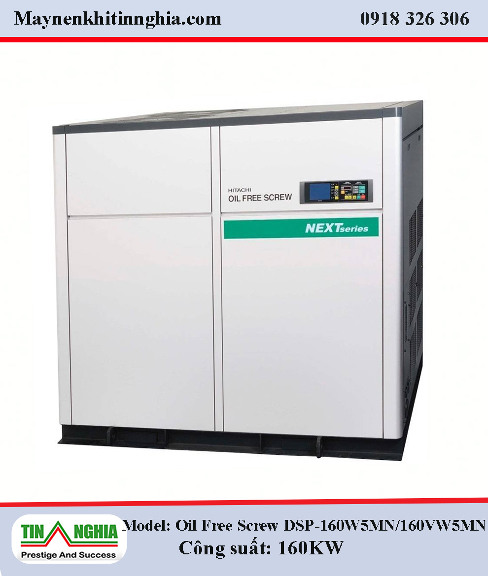 Hitachi-Oil-Free-Screw-DSP-160W5MN-160VW5MN-truc-vit-khong-dau