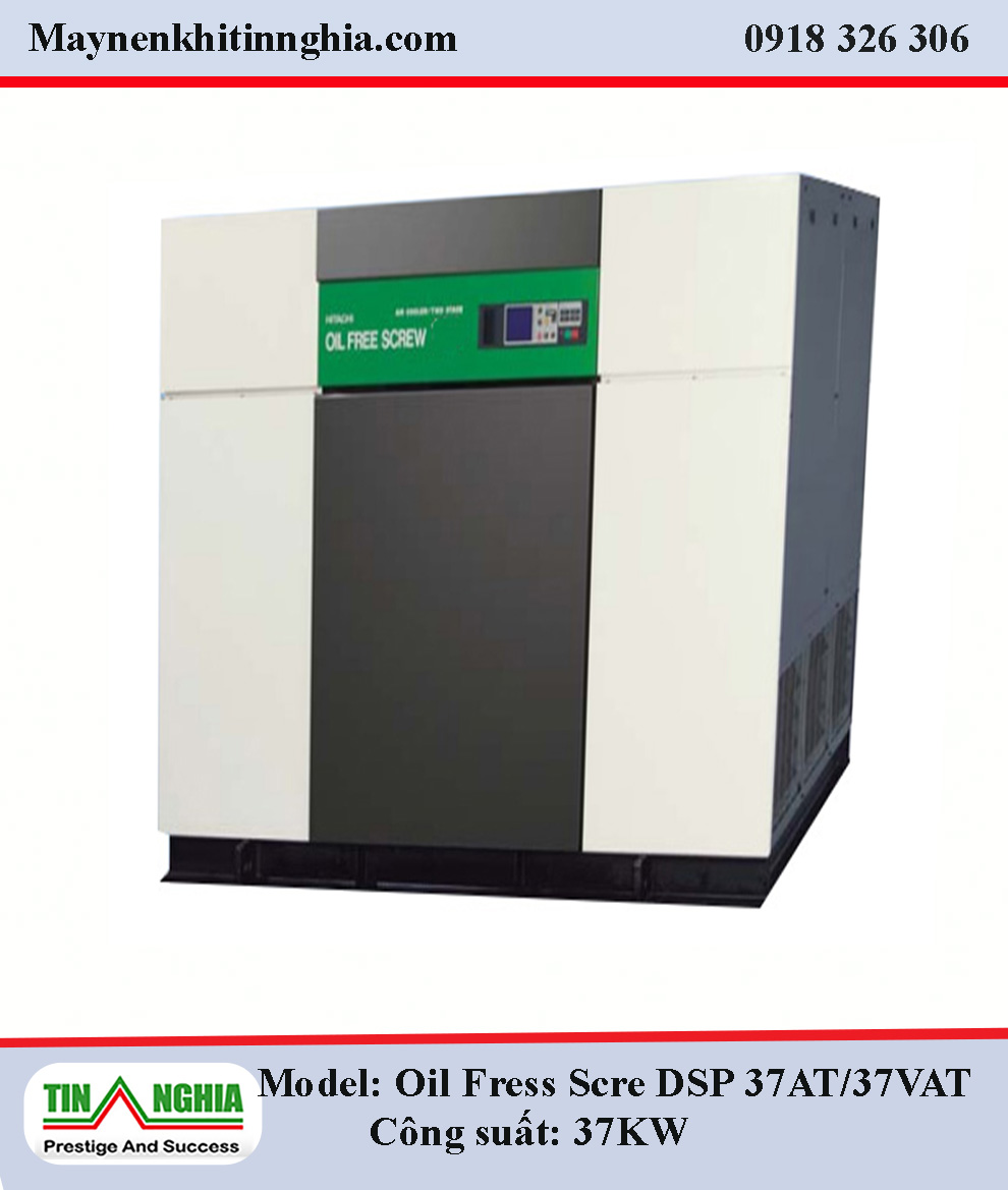 Hitachi-Oil-Free-Screw-DSP37AT-37KW-truc-vit-khong-dau