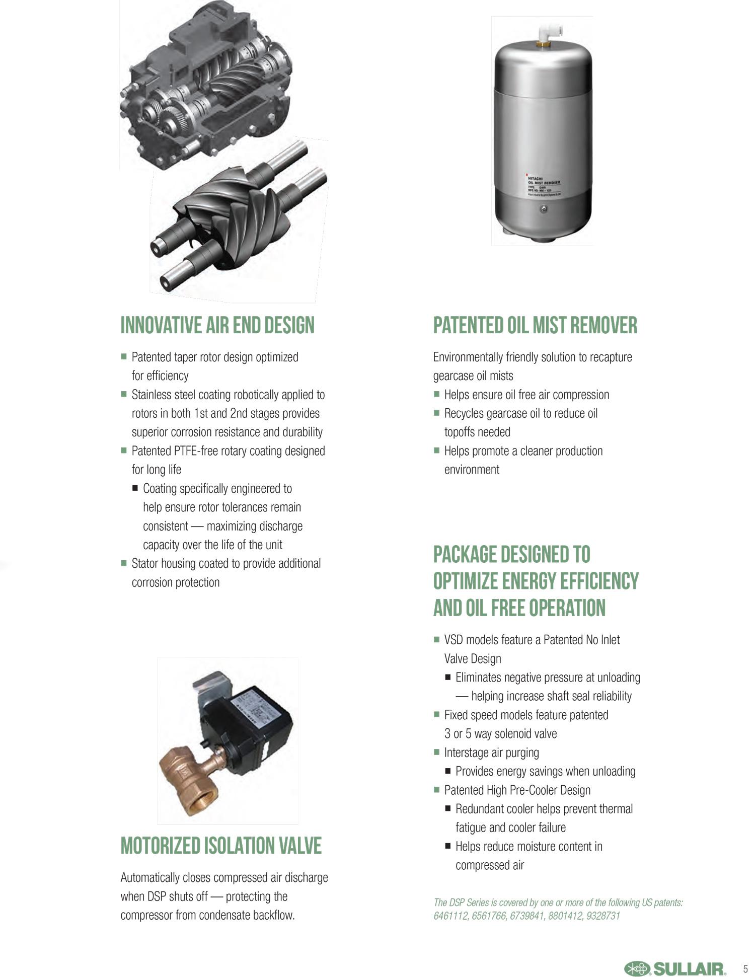 Catalogue Máy Nén khí Hitachi 22kw không Dầu - DSP2209AY -5