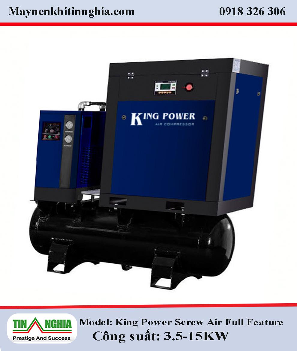 Kingpower-3.5-15kw-Screw-AirCompressor–Full-Feature