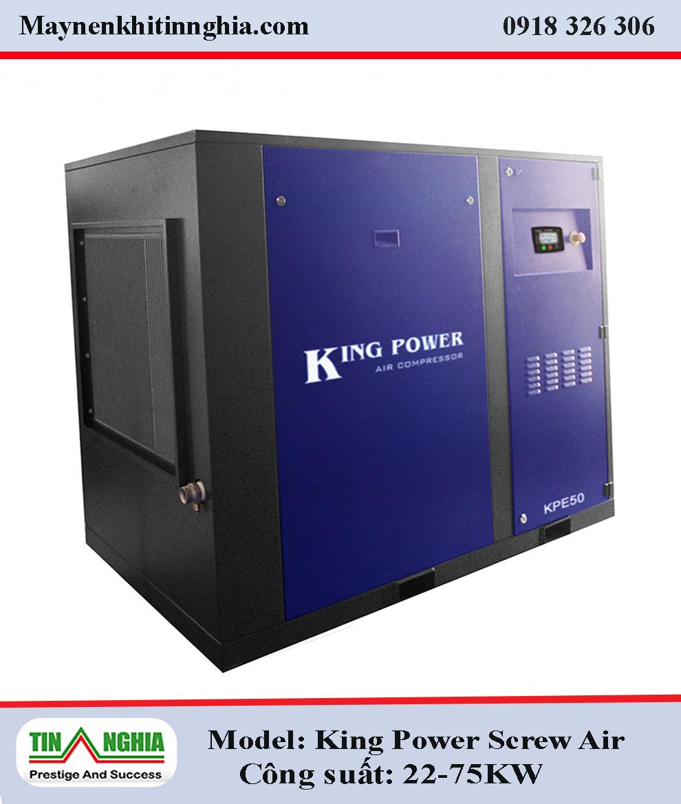 may-nen-khi-King-Power-cong-suat-22–75KW–Screw-truc-vit-co-dau